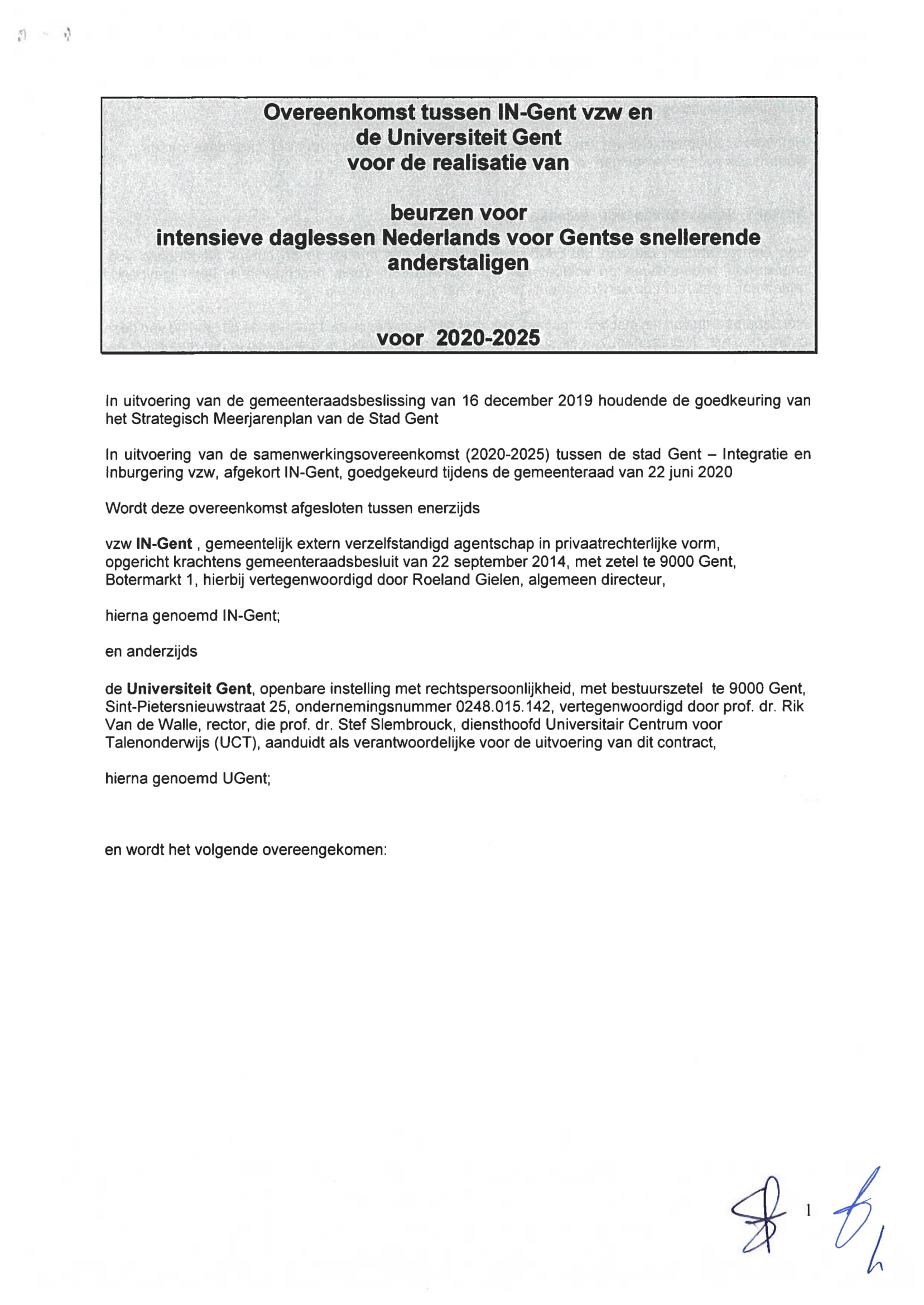 SWO Ugent en IN-Gent